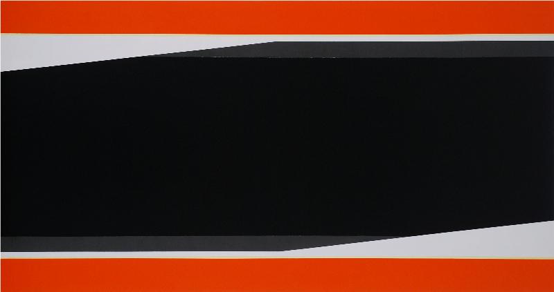 Don Voisine  Thru & Thru, 2009  32 x 60 in. oil/wood